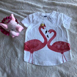 BRAND NEW WITH TAGS Child's Flamingo Graphic Tee